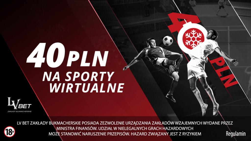 Obstawianie wirtualnych meczów z bonusem 40 PLN!